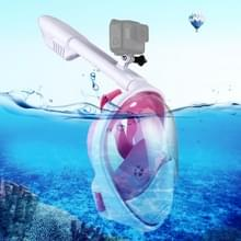 PULUZ 260mm Tube Water Sports Diving Equipment Full Dry Snorkel Mask  for GoPro HERO6 /5 /5 Session /4 Session /4 /3+ /3 /2 /1  Xiaoyi and Other Action Cameras  L/XL Size(Pink)