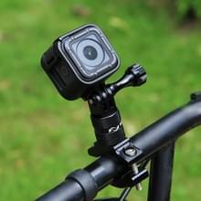 [US Stock] PULUZ 360 Degree Rotation Bike Aluminum Handlebar Adapter Mount with Screw for GoPro HERO6 /5 Session /5 /4 Session /4 /3+ /3 /2 /1  Xiaoyi Sport Camera(Black)