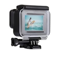PULUZ 2 in 1 for GoPro HERO6 /5 Back Cover + 30m Waterproof Housing Protective Case with Buckle Basic Mount & Lead Screw  No Need to Remove Lens
