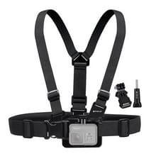 [US Stock] PULUZ Adjustable Body Mount Belt Chest Strap with J Hook Mount & Long Screw for GoPro HERO6 /5 /5 Session /4 Session /4 /3+ /3 /2 /1  Xiaoyi and Other Action Cameras
