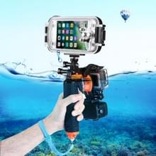 3 in 1 Pistol Trigger Set (Shutter Trigger + Phone Clamp + Floating Hand Grip Diving Buoyancy Stick) with Adjustable Anti-lost Strap & Screw & Tripod Adapter for iPhone  Galaxy  Sony  and other Smartphnes  GoPro