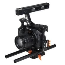 PULUZ Handle Video Camera Cage Steadicam Stabilizer for Sony A7 & A7S & A7R & A7R II & A7S II  Panasonic Lumix DMC-GH4(Orange)