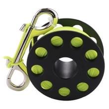 PULUZ compacte duiken vinger spoel met 30m Nylon Gevlochten draad & RVS bout Clip