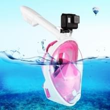 PULUZ 240mm Fold buis watersport apparatuur volledig droog Snorkel duikbril voor GoPro HERO6 /5 /5 sessie /4 sessie /4 /3+/3 /2 /1, Xiaoyi en andere actie camera's, S/M Size(Pink)