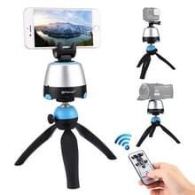 PULUZ elektronische 360 graden rotatie panoramisch statiefkop + statief-Mount Clamp van GoPro + telefoon klem met afstandsbediening voor Smartphones GoPro DSLR Cameras(Blue)