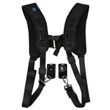 PULUZ Quick Release Double Shoulder Harness Soft Pad Decompression Foam Shoulder Strap Belt for DSLR Digital Cameras