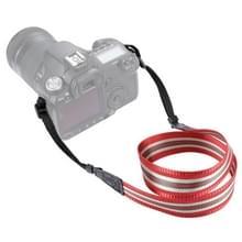 PULUZ streep stijl serie schouder camerariem van de riem van de hals voor SLR / DSLR camera's (donkerrood)