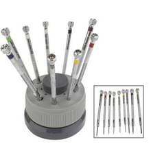 9-delige 0.5 mm - 2.5 mm horloge reparatie schroevendraaier Tools Set Kit(Silver)