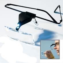 1.5 X / 2 5 X / 3.5 X Vergrootglas bril met LED Light(Black)