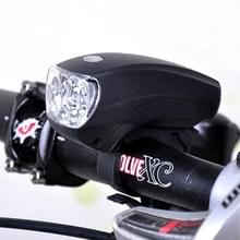 5 LED Super helder fiets koplamp met houder & drie verschillende verlichtingsstanden(zwart)