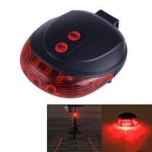 Fiets LED Light Laser nacht Mountain Bike staart licht achterlicht MTB veiligheid waarschuwing fiets achter licht Lamp Bycycle Light(Red)