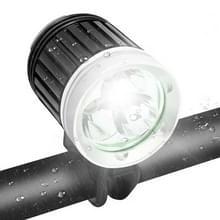 4 Standen Fietslamp / Hoofdlamp met 3x CREE XM-L T6 LED licht, lichtgevende lichtstroom: 1200lm