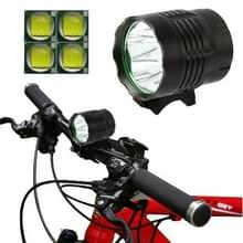 3 Mode Bicycle Lamp / Head Lamp met 4x CREE XM-L T6 LED licht, lichtgevend Flux: 4800lm