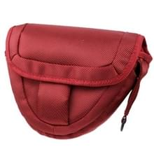 Portable Digital Camera Cloth Bag with Strap  Size: 21 x 8 x 16.5cm (Scarlet Red)