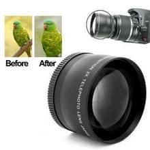58mm Professionele 2X Telelens Lens voor Canon 350D / 400D / 450D / 500D / 1000D / 550D / 600D / 1100D