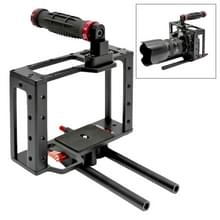 DEBO DET-08 Camera Kooi Handgreep Set voor Canon DSLR Camera 5D2 / 5D3 (Zwart+Rood)