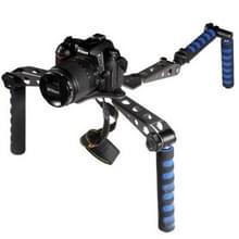 Multi-functionele schouderstatief voor DSLR Camera (zwart)