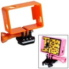 TMC Hoogwaardig statief Houder Frame / behuizing voor GoPro Hero 4 / 3 + 3 HF191 (Oranje)