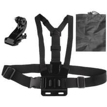 ST-139 Elastische borstband Verstelbare Riem (Type B) voor J-vormige beugel en etui voor GoPro HERO 6 / 5 / 4 / 3+ / 3 / 2 / 1 (zwart)