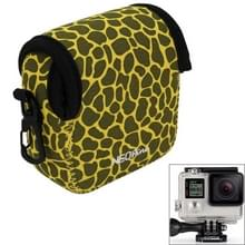 GN-5 luipaard structuur GoPro accessoires Waterdicht huisvesting neopreen innerlijke beschermings zak Camera tas voor GoPro HERO 5 / 4 /3+ /3 /2 /1(geel)
