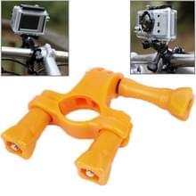 TMC Stuur zadelpen Mount fiets Moto fiets Paalklem voor GoPro HERO4 / 3 + / 3 / 2 / 1(Oranje)