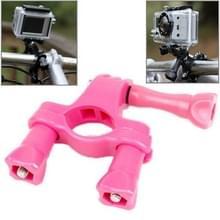 TMC Stuur zadelpen Mount fiets Moto fiets Paalklem voor GoPro HERO4 / 3 + / 3 / 2 / 1 (hard roze)