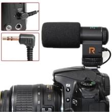 Mic-109 directionele stereo microfoon ontmoette 90 / 120 graden pickup schakelen modus voor dslr & DV-camcorder(zwart)