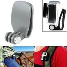TMC hoofd Quickclip voor GoPro  HERO 6/5 sessie /5 /4 sessie /4 /3+ /3 /2/1 andere Sport Cameras(Grey)