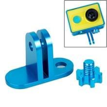 TMC lichtweight CNC Aluminum Headset Mount voor XiaoMi YI Sport Camera(blauw)