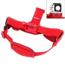 NEOpine GHS-2 Verstelbare hoofdband voor GoPro HERO 6 / 5 / 4 / 3+ / 3 / 2 / 1, Xiaomi Yi Sport Camera (rood)