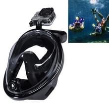 NEOPine Scuba water sport apparatuur volledig droge duik masker zwembril voor GoPro HERO 4 Session 6 / 5 / 4 / 3 + / 3 / 2 / 1 /1, L-formaat(zwart)