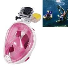 NEOPine Scuba water sport apparatuur volledig droge duik masker zwembril voor GoPro HERO 4 Session 6 / 5 / 4 / 3 + / 3 / 2 / 1 /1, L-formaat(roze)