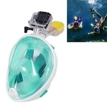 10 PCS Water Sports Diving Equipment Full Dry Diving Mask Swimming Glasses voor GoPro HERO4 /3+ /3 /2 /1, L Size(licht Green)