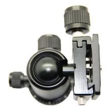 RUBY Aluminium Magnesium legering Tripod statiefhoofd met Quick Release bevestigings Adapter (005H) (zwart)