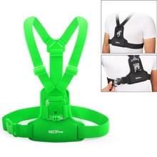 NEOPINE elastische vezels duiken Materiaal borstriem voor GoPro Hero 4 / 3 + / 3 / 2 / 1(groen)