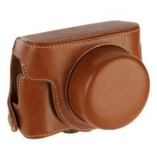 Retro Stijl PU leren Camera Tas met Draagriem voor Canon G1X Mark II (bruin)