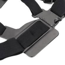Aanpassing elastische bandjes van lichaam borstriem voor GoPro HERO4 / 3 / 2(zwart)