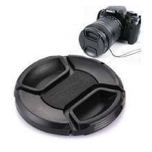 62mm Camera Lensdop met knijp systeem (zwart)