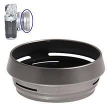 49mm Geventileerde metalen lenskap zonnekap voor Fuji X100 (LH-JX100) (zilver)