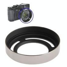 52mm Geventileerde metalen lenskap zonnekap voor Fuji X10 (LH-JX10) (zilver)