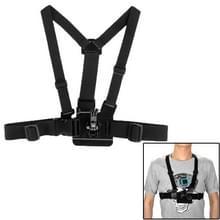 GoPro borstband geschikt voor GoPro HERO 6 / 5 / 4 / 3+ / 3 / 2 / 1 (zwart)