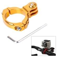 TMC-Fiets Aluminium fietsstuur Standaard houder voor GoPro HERO 6 / 5 / 4 / 3+ / 3 / 2 / 1, Inwendige Diameter: 31,8 mm (Goud)