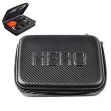 Carbon Fiber Shockproof Waterdicht draagbare hoesje voor GoPro Hero 4 / 3 + / 3 / 2 / 1, Afmeting: 22.5 cm x 16 cm x 6cm(zwart)