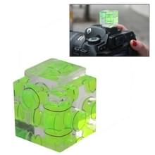 Drie assige waterpas voor Camera Flitsschoen (groen)