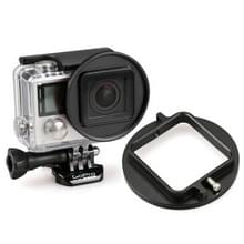 52Mm UV Lens Filter Adapter Ring voor GoPro HERO 4 / 3+ tuig Kooi hoes / caseHouder (zwart)