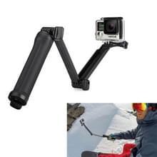 3-Wegs Monopod + Statief + Grip Super Draagbaar Magic Houder Selfie Stick voor GoPro HERO 4 Session 6 / 5 / 4 / 3 + / 3 / 2 / 1 / 2 / SJ4000, Lengte: 20-62cm