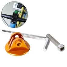 TMC- Fiets stuurpen houder met schroef voor GoPro HERO 6 / 5 / 4 / 3+ / 3 / 2 / 1 (Goud)