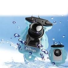 Bingo waterdicht tas voor digitale camera, afmeeting: 140 x 106 mm, lens verwarmingselement / lengte: 35 / 27 mm (baby blauw)