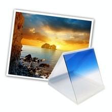 Vierkant Gradual geleidelijke veranderend Blauw kleurverloop Lens Filter (blauw)