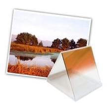 Vierkant Gradual geleidelijke veranderend Oranje kleurverloop Lens Filter (Oranje)